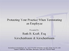 Video Thumbnail: Protecting Your Practice When Terminating an Employee