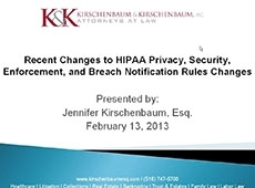 Video Thumbnail: Changes to HIPAA Privacy, Security, Enforcement and Breach Notification Rules