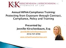 Video Thumbnail: 2015 Annual HIPAA Compliance Training Protecting from Exposure through Contract, Compliance