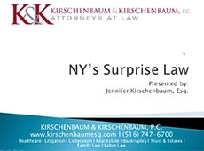 Video Thumbnail: NY's Surprise Law - Avoiding Surprise Bills with recommended policies and procedures