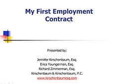 Video Thumbnail: My First Employment Contract