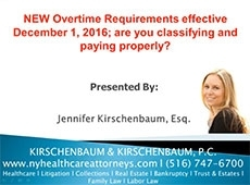 Video Thumbnail: NEW Overtime Requirements effective December 1, 2016