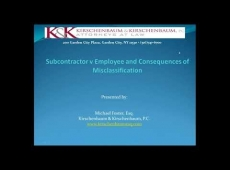 Video Thumbnail: Subcontractor v Employee and Consequences of Misclassification