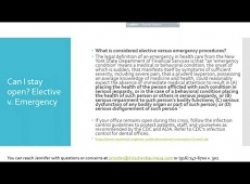 Video Thumbnail: Ophthalmology COVID-19 Legal Update - Essential Services, Stimulus, Staff Strategy