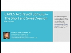 Video Thumbnail: CARES Act Payroll Stimulus – The Short and Sweet Version
