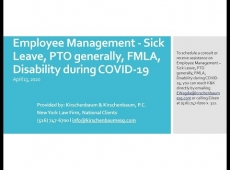 Video Thumbnail: Alarm Industry Employee Management - Sick Leave, PTO generally, FMLA, Disability during COVID 19
