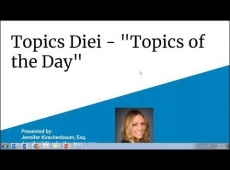 Video Thumbnail: Join Jennifer for Topics Diei 'Topics of the Day'